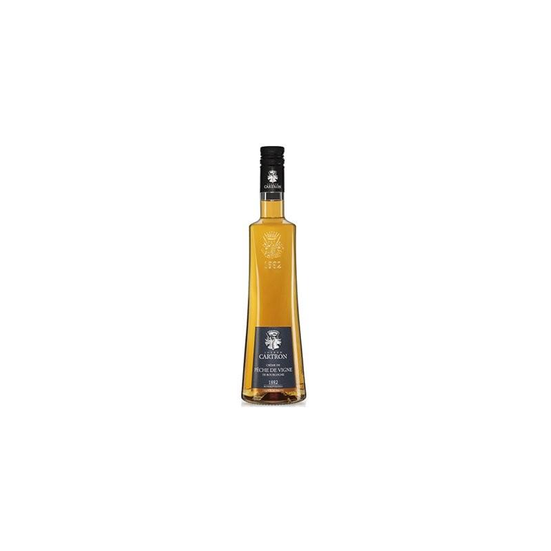 Maison Cartron - Créme de Pêche de vigne de Bourgogne - 70cl 18% vol.