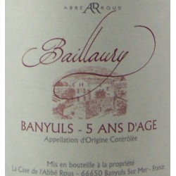 Domaine de Baillaury - Banyuls 5 ans - AOP Banyuls