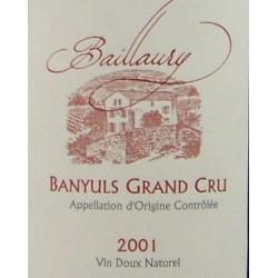Abbé Rous - Domaine de Baillaury 2008 - AOP Banyuls Grand Cru